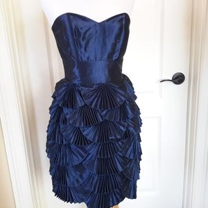 Laundry Navy Metallic Blue Dress
